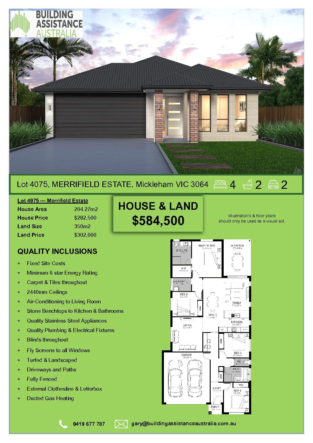 Lot 4075, Merrifield Estate, Mickleham
